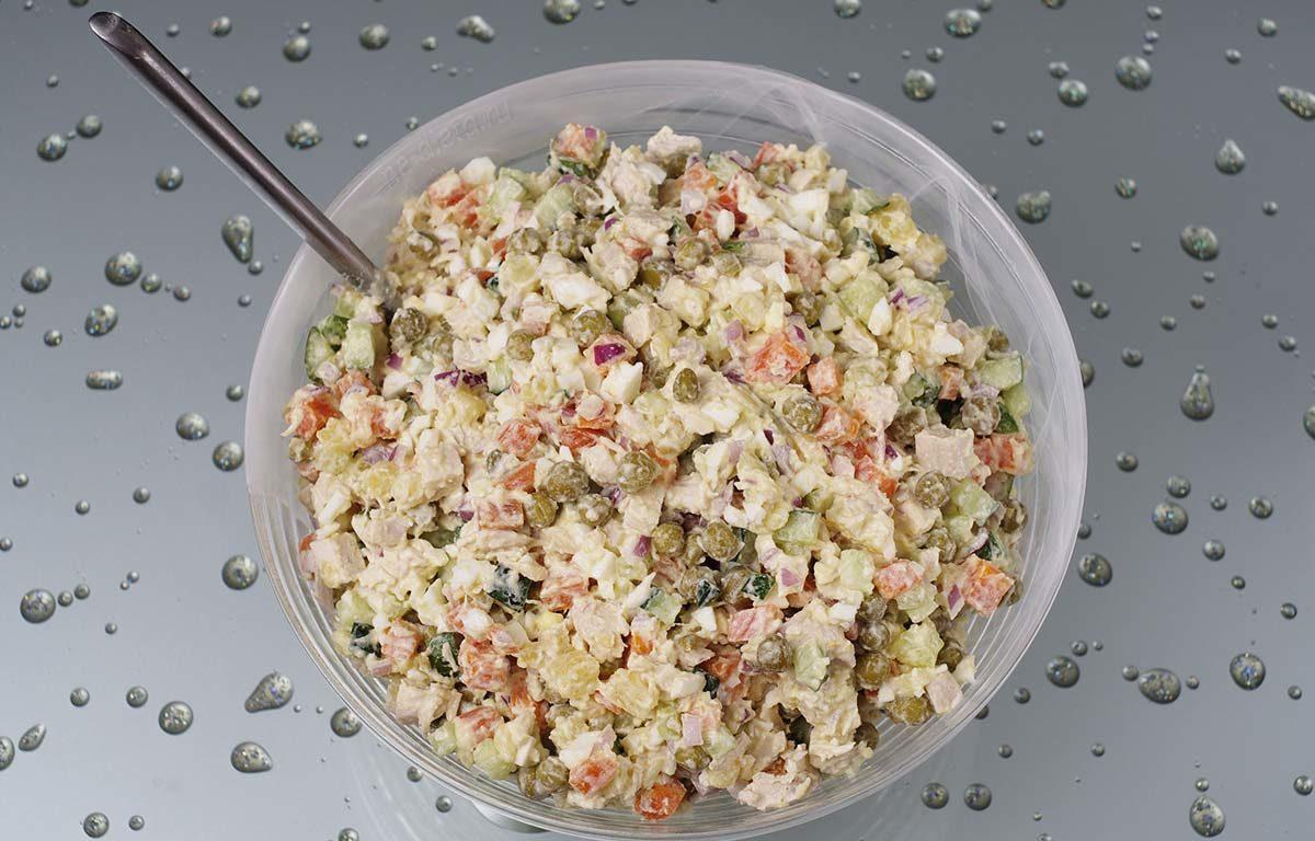 Салат оливье рецепт с очень вкусный с курицей и