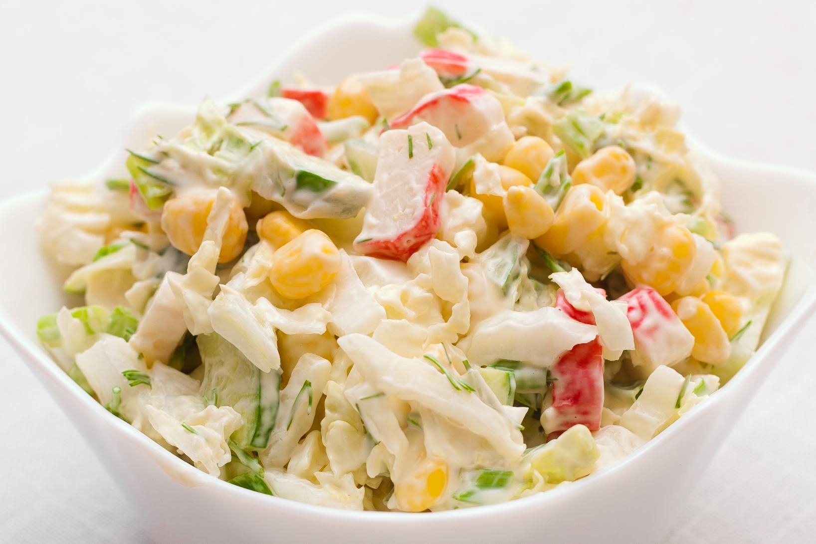 Салат из краб палочек