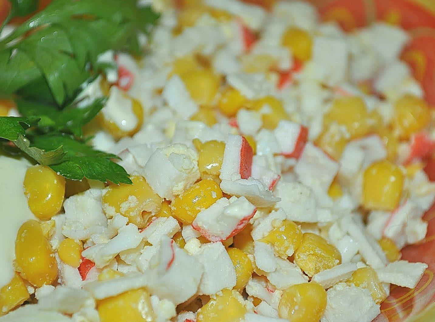Салат с крабовыми палочками — 8 классических рецептов салата из крабовых палочек с кукурузой этап 8