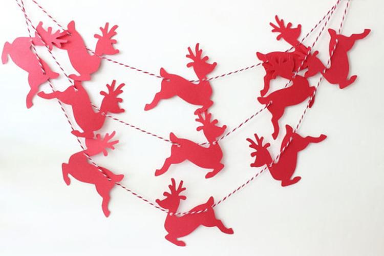 Гирлянда на рождество своими руками из бумаги шаблоны