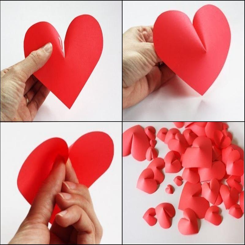 Подарок сердце из бумаги 594