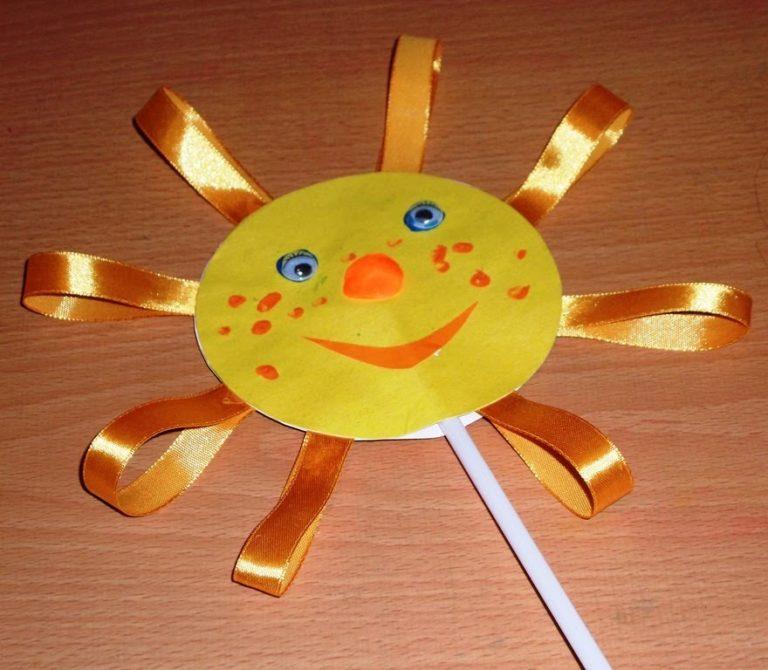 Поделка солнышко для детей  лет