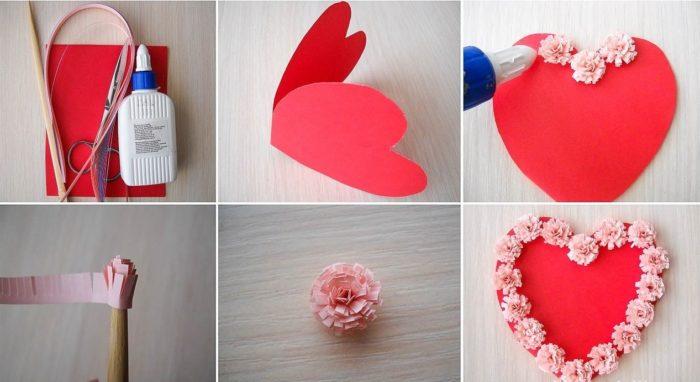 Подарок сердце из бумаги 323