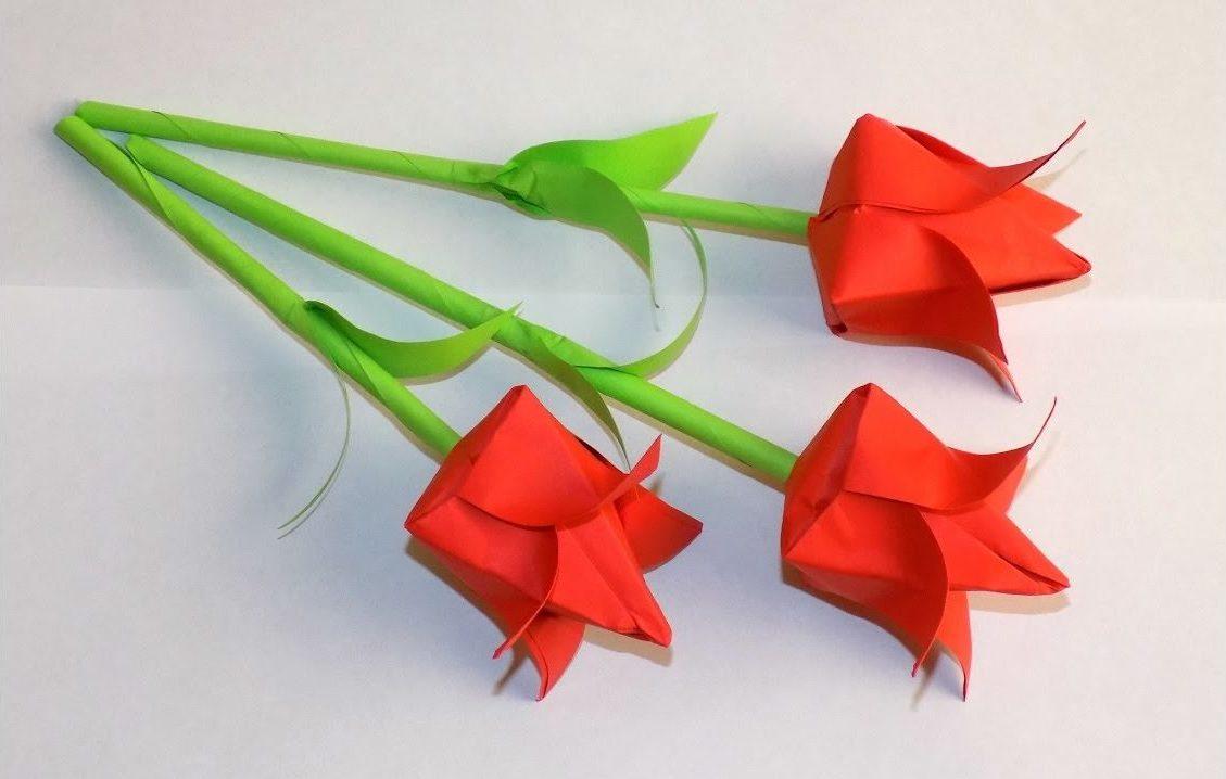 Как и из чего сделать тюльпаны своими руками 855