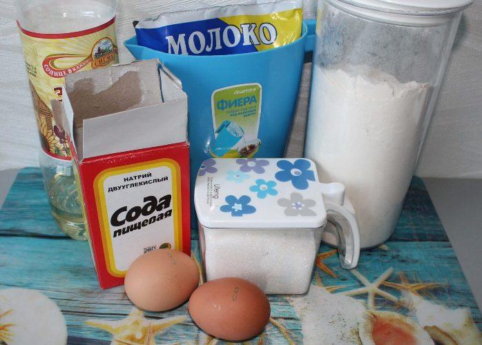 Пышные оладьи на молоке