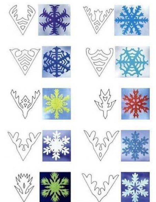 снежинки с картинками как делать распределились так