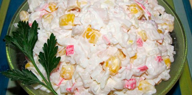Салат с крабовыми палочками — 8 классических рецептов салата из крабовых палочек с кукурузой этап 2