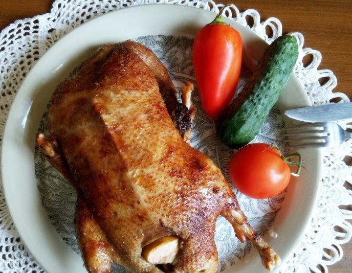 Гусь запеченный в духовке — рецепт приготовления в фольге, рукаве, с яблоками , видео