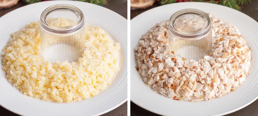 Салат Гранатовый браслет — 6 самых вкусных рецептов с курицей этап 4