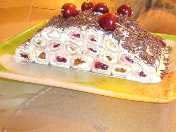 Блинный торт — 8 рецептов приготовления торта в домашних условиях этап 44