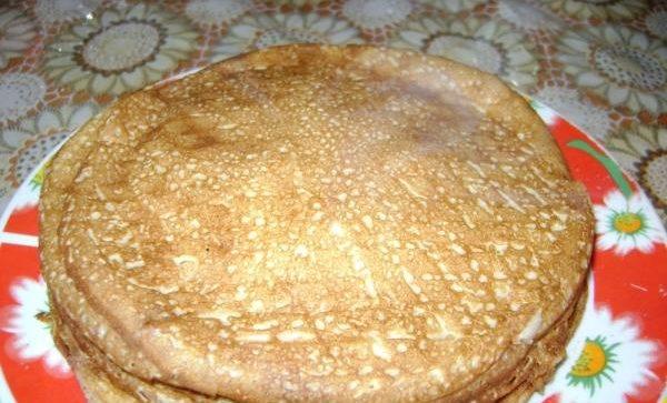 Блины на кефире и минеральной воде - рецепт пошаговый с фото