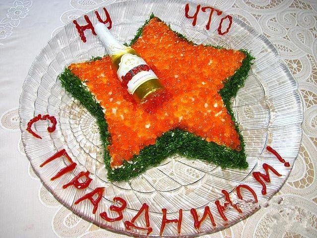 Салаты на 23 февраля: простые и недорогие рецепты праздничных салатиков этап 73