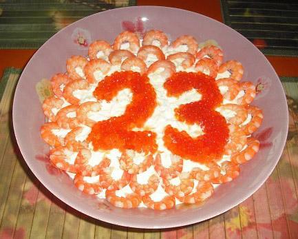 Салаты на 23 февраля: простые и недорогие рецепты праздничных салатиков этап 75