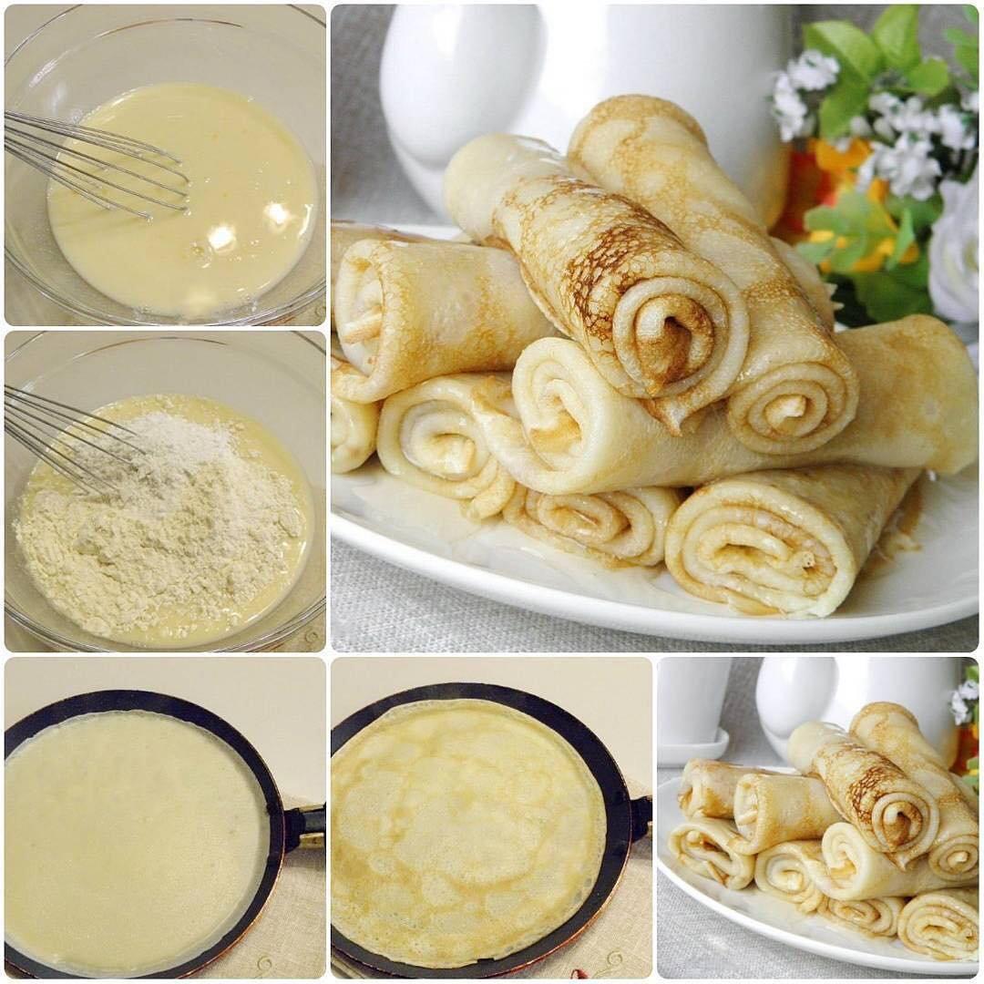 Блинчики на молоке рецепт с фото пошагово