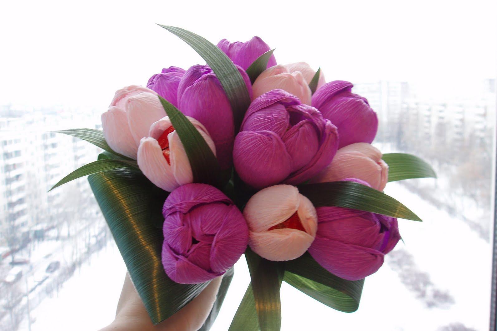 Букет из тюльпанов своими руками фото 278