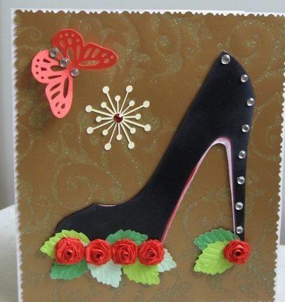 День рождение, открытка туфля на 8 марта