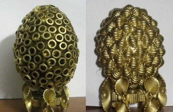 Пасхальное яйцо. Идеи поделок в форме яиц в разных техниках исполнения этап 59