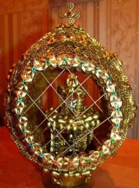 Пасхальное яйцо. Идеи поделок в форме яиц в разных техниках исполнения этап 60