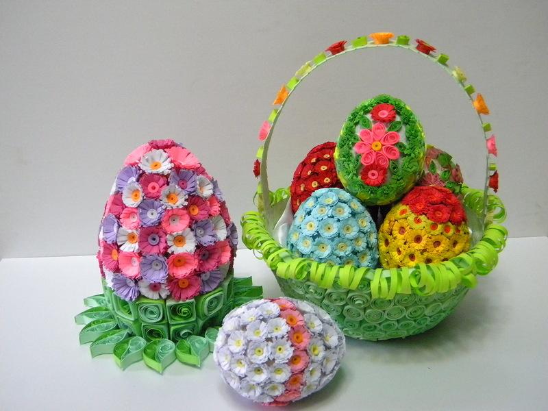 Пасхальное яйцо. Идеи поделок в форме яиц в разных техниках исполнения этап 48