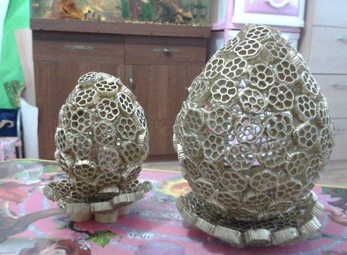 Пасхальное яйцо. Идеи поделок в форме яиц в разных техниках исполнения этап 51