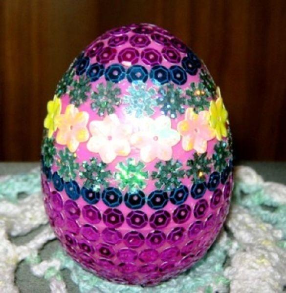 Пасхальное яйцо. Идеи поделок в форме яиц в разных техниках исполнения этап 52