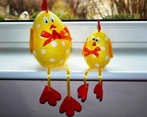 Пасхальное яйцо. Идеи поделок в форме яиц в разных техниках исполнения этап 56