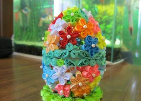 Пасхальное яйцо. Идеи поделок в форме яиц в разных техниках исполнения этап 47