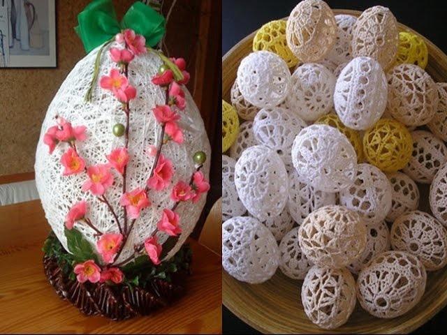 Пасхальное яйцо. Идеи поделок в форме яиц в разных техниках исполнения этап 38