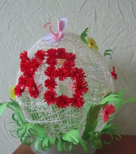 Пасхальное яйцо. Идеи поделок в форме яиц в разных техниках исполнения этап 40