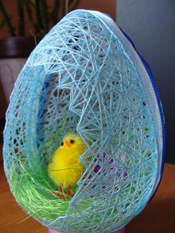 Пасхальное яйцо. Идеи поделок в форме яиц в разных техниках исполнения этап 46