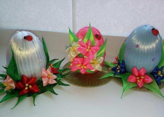 Пасхальное яйцо. Идеи поделок в форме яиц в разных техниках исполнения этап 2