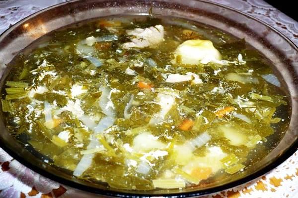 Щавельный суп с яйцом пошаговый рецепт