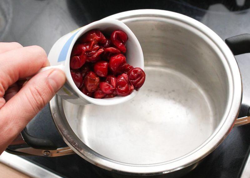 Варенье из вишни без косточек на зиму этап 21