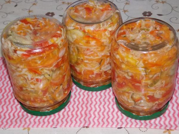 Салат из капусты на зиму — очень вкусные рецепты в банке этап 29