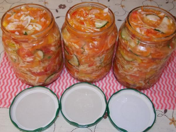 Салат из капусты на зиму — очень вкусные рецепты в банке этап 27