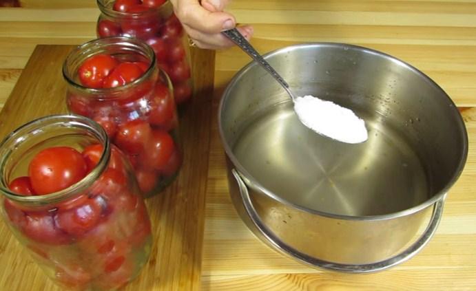 Помидоры маринованные на зиму: 7 очень вкусных рецептов сладких маринованных помидор этап 7