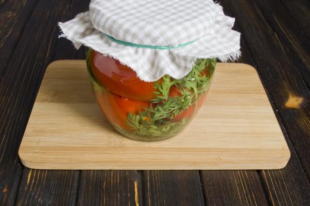 Помидоры маринованные на зиму: 7 очень вкусных рецептов сладких маринованных помидор этап 25