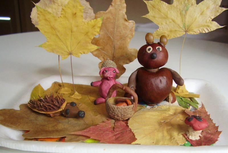 Поделки из природного материала на тему осень в школу и для детского сада. 66 интересных и оригинальных идей этап 16