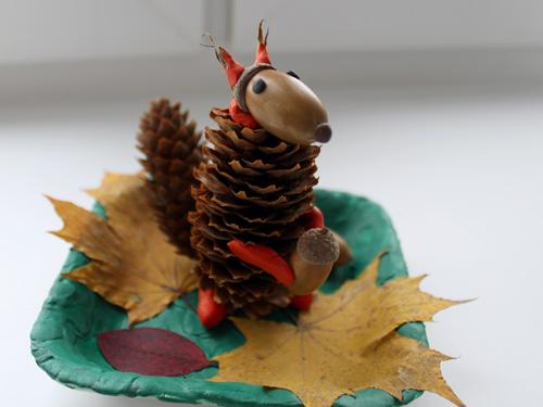 Поделки из природного материала на тему осень в школу и для детского сада. 66 интересных и оригинальных идей этап 17