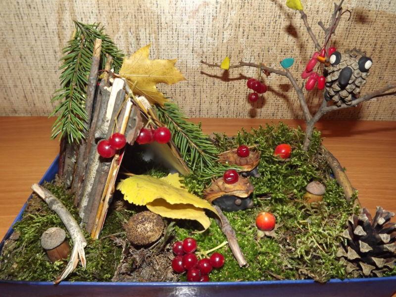 Поделки из природного материала на тему осень в школу и для детского сада. 66 интересных и оригинальных идей этап 21