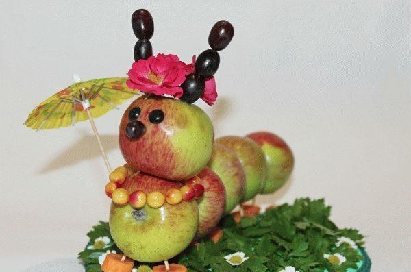 Поделки из овощей и фруктов своими руками для выставки. Самые красивые осенние поделки в детский сад и в школу этап 64