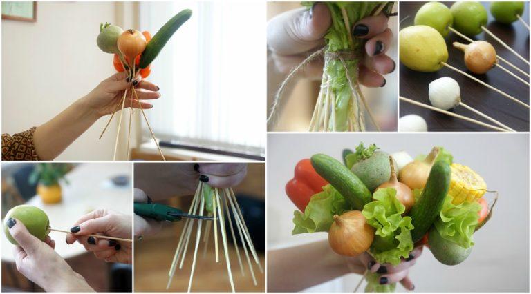 Поделки из овощей и фруктов своими руками для выставки. Самые красивые осенние поделки в детский сад и в школу этап 48
