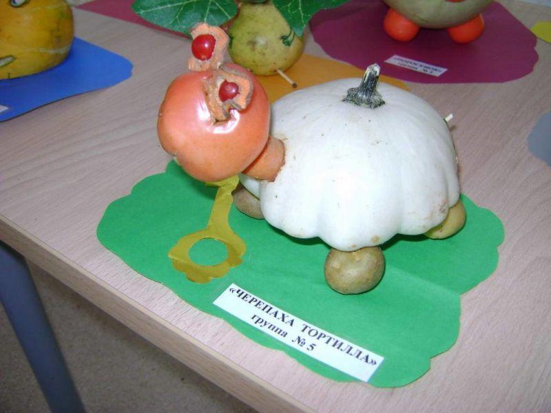 Поделки из овощей и фруктов своими руками для выставки. Самые красивые осенние поделки в детский сад и в школу этап 40