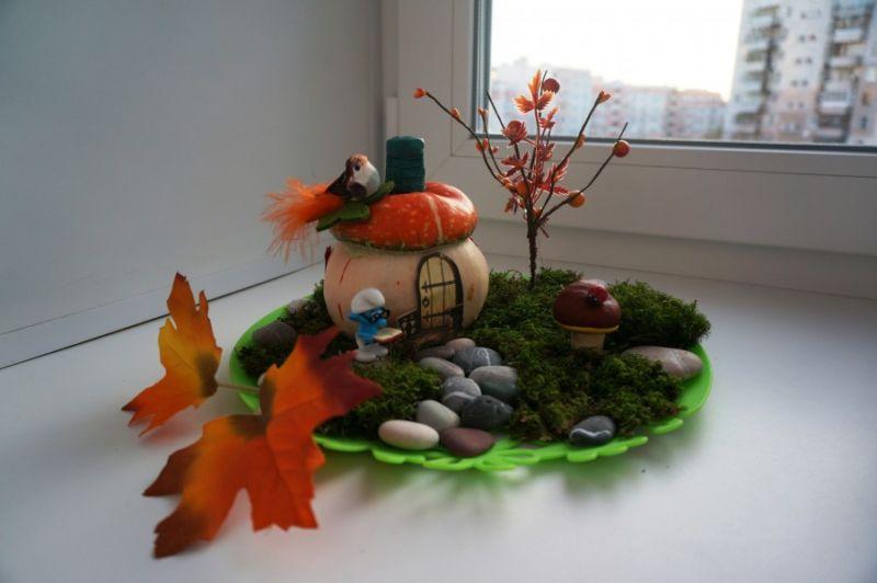Поделка из колосков на тему осень