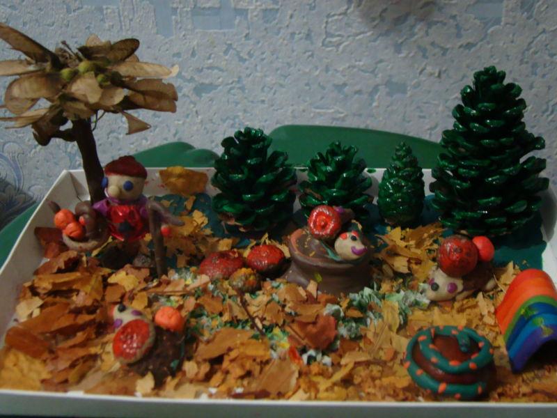 Поделки из природного материала на тему осень в школу и для детского сада. 66 интересных и оригинальных идей этап 13