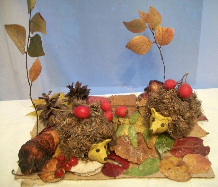 Поделки из природного материала на тему осень в школу и для детского сада. 66 интересных и оригинальных идей этап 5