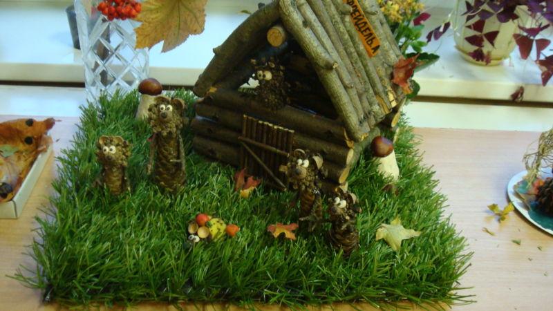 Поделки из природного материала на тему осень в школу и для детского сада. 66 интересных и оригинальных идей этап 8