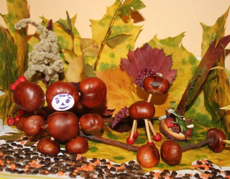 Поделки из природного материала на тему осень в школу и для детского сада. 66 интересных и оригинальных идей этап 9