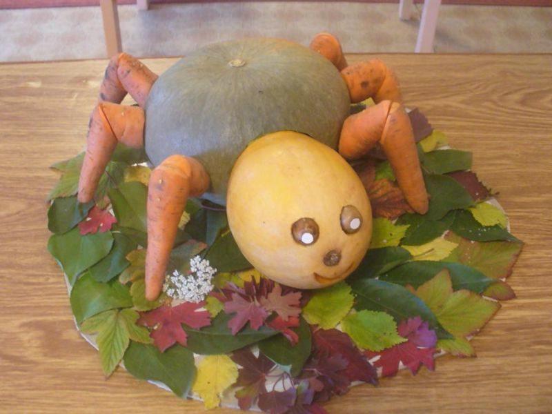 Поделки из овощей и фруктов своими руками для выставки. Самые красивые осенние поделки в детский сад и в школу этап 32