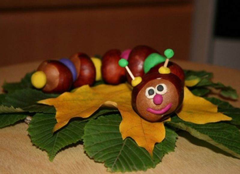 Поделки из природного материала на тему осень в школу и для детского сада. 66 интересных и оригинальных идей этап 44
